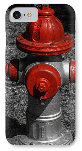 Red Fire Hydrant Phone Case by Steven  Taylor