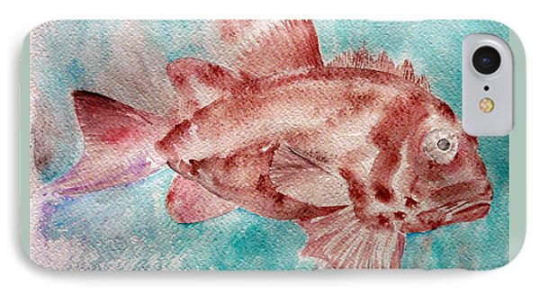IPhone Case featuring the painting Red Fish by Jasna Dragun