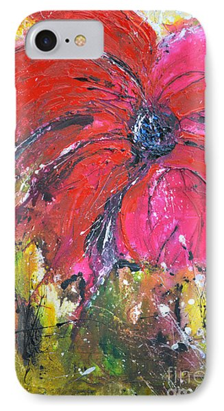Red Flower - Abstract Painting Phone Case by Ismeta Gruenwald