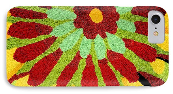 Red Flower Rug Phone Case by Janette Boyd