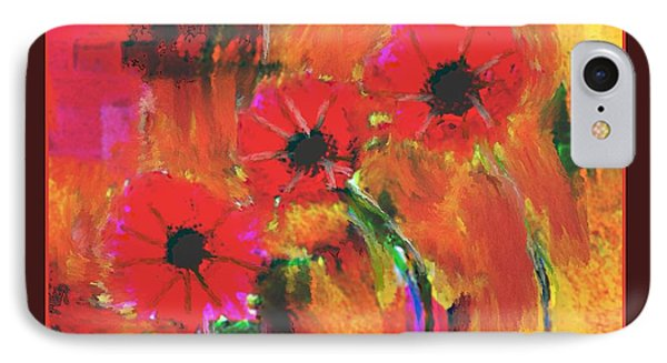 Red Flowers Phone Case by Nedunseralathan R