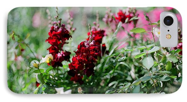 Red Flowers On Film IPhone Case by Linda Unger