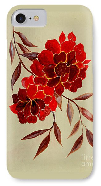 Red Flowers - Painting IPhone Case
