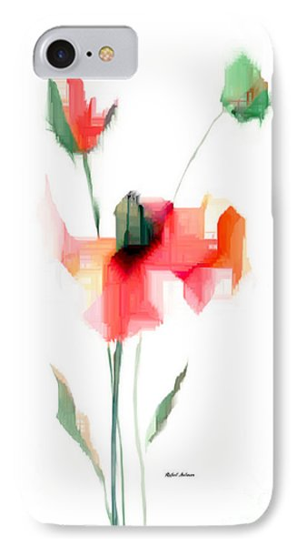 Red Flowers IPhone Case by Rafael Salazar