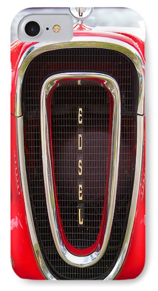 Red Ford Edsel Grill Detail IPhone Case by Mick Flynn