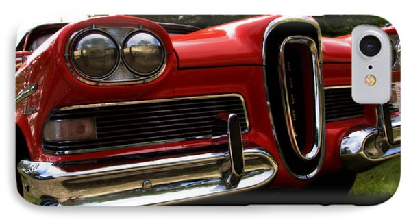 Red Ford Edsel IPhone Case by Mick Flynn