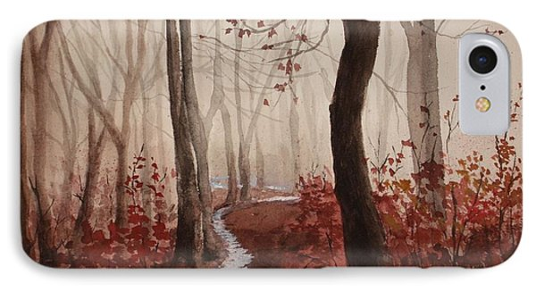 Red Forest IPhone Case by Rachel Hames