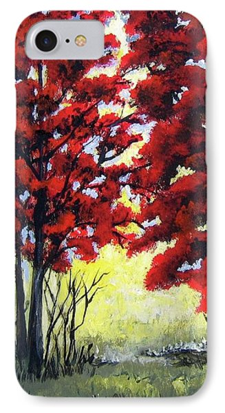 Red Forest IPhone Case by Suzanne Theis
