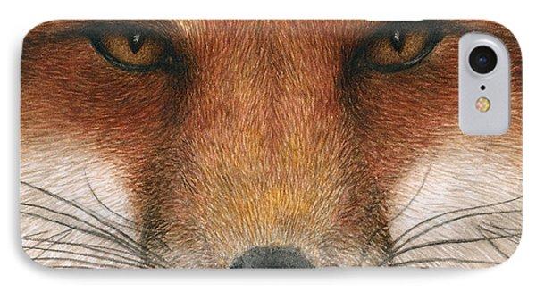 Red Fox Gaze IPhone Case by Pat Erickson