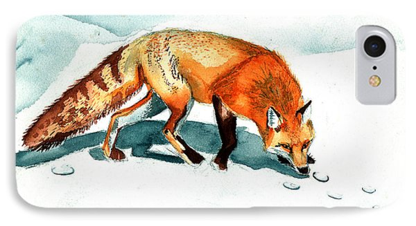 Red Fox IPhone Case by Genevieve Esson