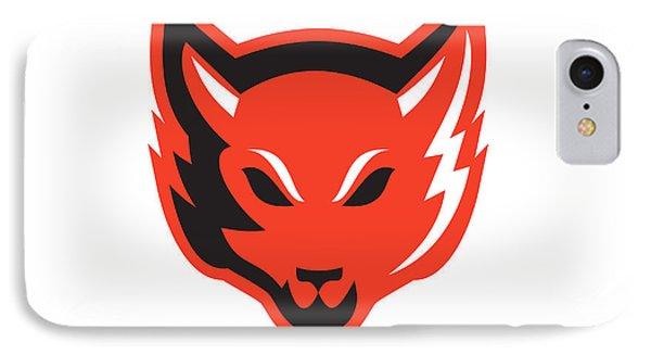 Red Fox Head Front  Phone Case by Aloysius Patrimonio