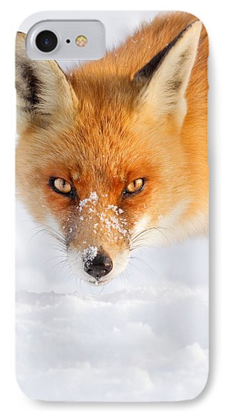 Red Fox In The Snow Phone Case by Roeselien Raimond