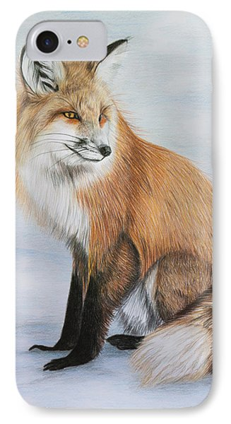 Red Fox Phone Case by Lena Auxier