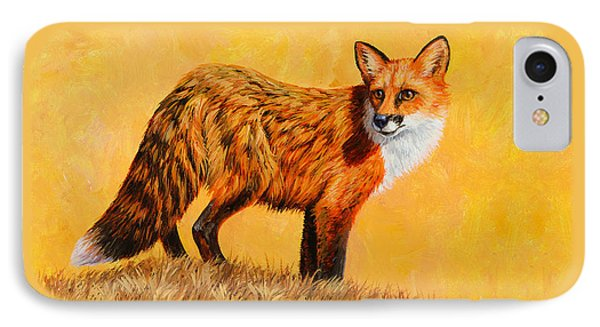 Red Fox Painting Iphone Case IPhone Case