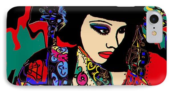 Red Geisha Phone Case by Natalie Holland