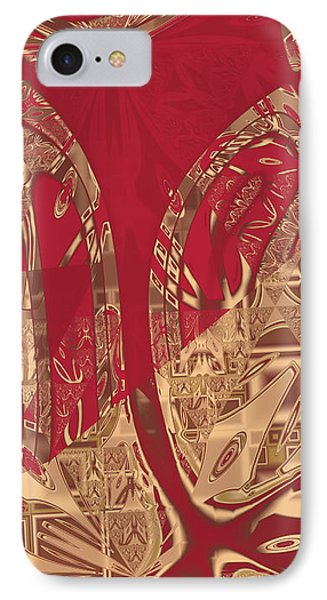 Red Geranium Abstract IPhone Case by Judi Suni Hall