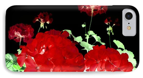Red Geraniums Phone Case by Will Borden