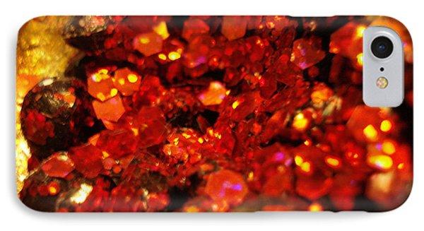 Red Glitter Pomagranite IPhone Case