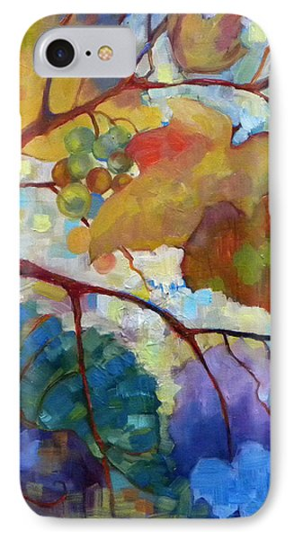 Red Grape Vines IIi Phone Case by Peggy Wilson