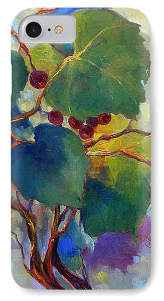 Red Grape Vines Phone Case by Peggy Wilson