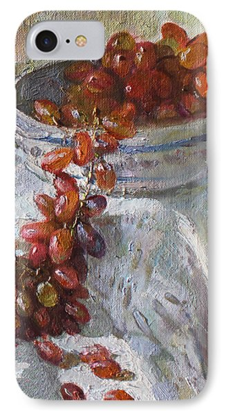 Red Grapes IPhone Case by Ylli Haruni