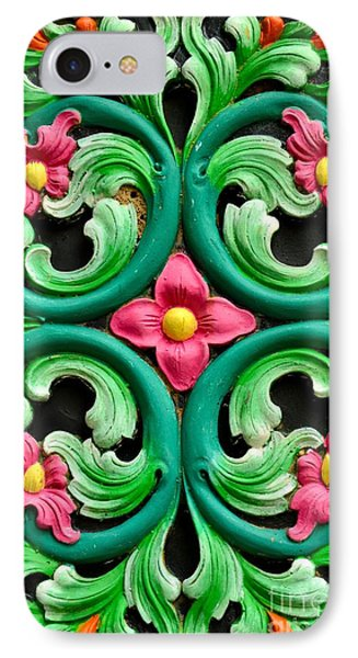 Red Green And Blue Floral Design Singapore IPhone Case by Imran Ahmed