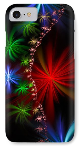 Red Green And Blue Fractal Stars Phone Case by Matthias Hauser