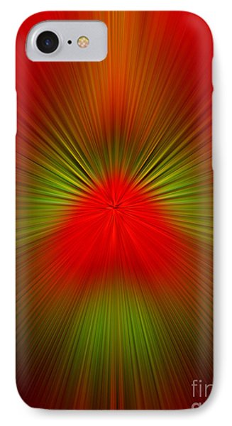 IPhone Case featuring the photograph Red Green Blur by Trena Mara
