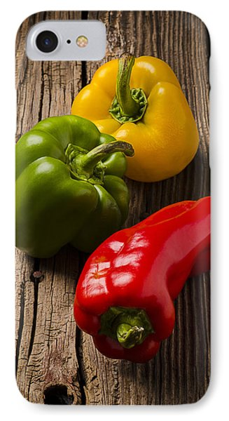 Red Green Yellow Peppers IPhone Case
