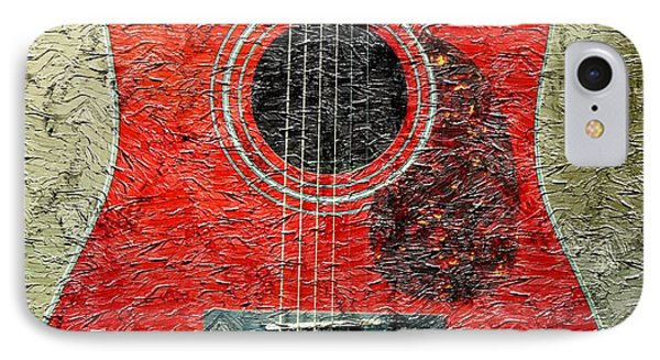 Red Guitar Center - Digital Painting - Music Phone Case by Barbara Griffin
