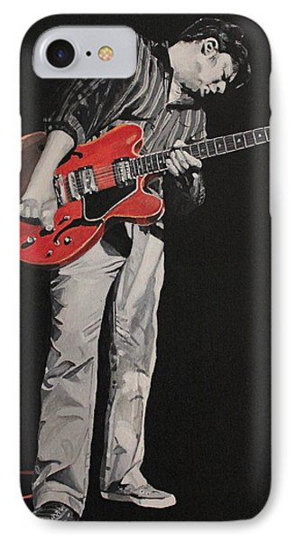 Red Guitar Phone Case by Patricio Lazen
