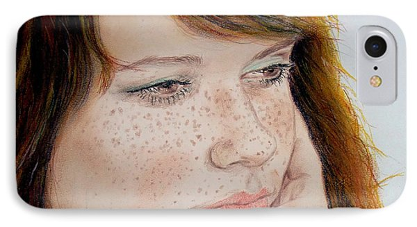 Red Hair And Freckled IIi Phone Case by Jim Fitzpatrick