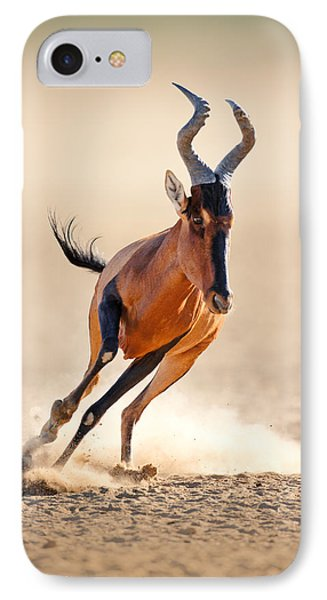 Red Hartebeest Running Phone Case by Johan Swanepoel