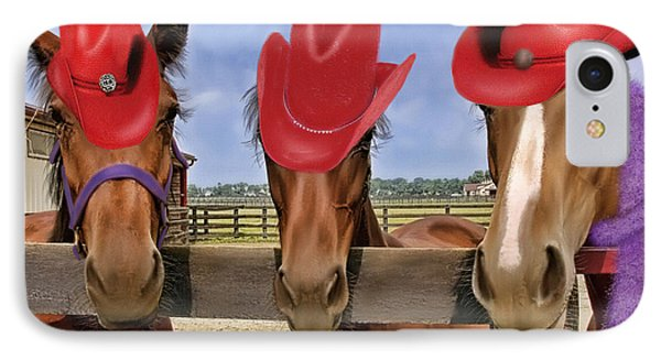 Red Hat Ladies IPhone Case by Sami Martin