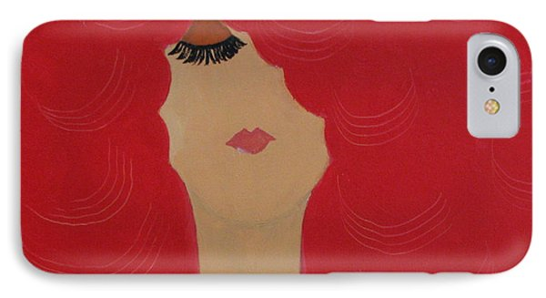 IPhone Case featuring the painting Red Head by Anita Lewis