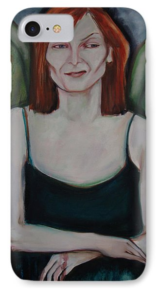 IPhone Case featuring the painting Red-headed Angel by Irena Mohr