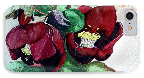 Red Helleborous Phone Case by Karin  Dawn Kelshall- Best