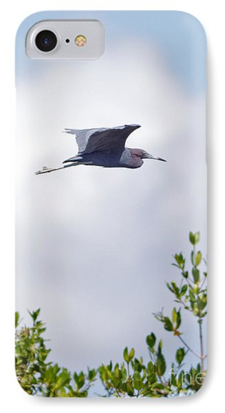 Red Heron In Flight In Sanibel Island IPhone Case by Natural Focal Point Photography