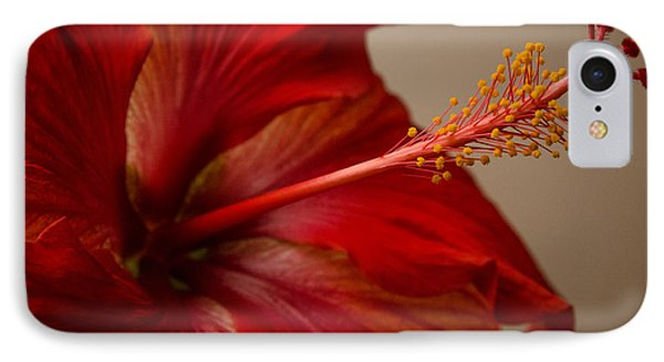 Red Hibiscus 5 IPhone Case by Frank Mari