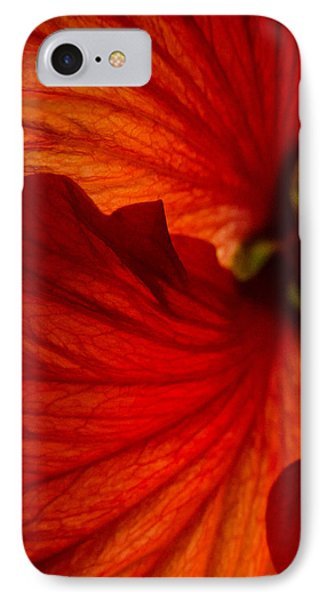 Red Hibiscus 6 IPhone Case by Frank Mari