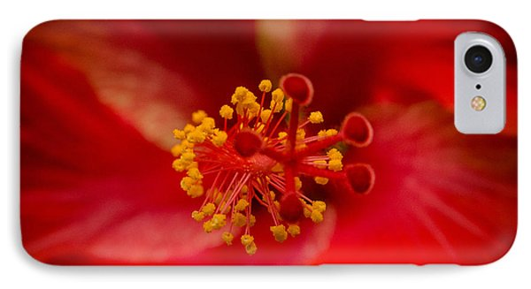 Red Hibiscus 7 IPhone Case by Frank Mari