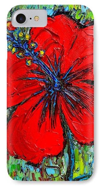 Red Hibiscus IPhone Case by Ana Maria Edulescu