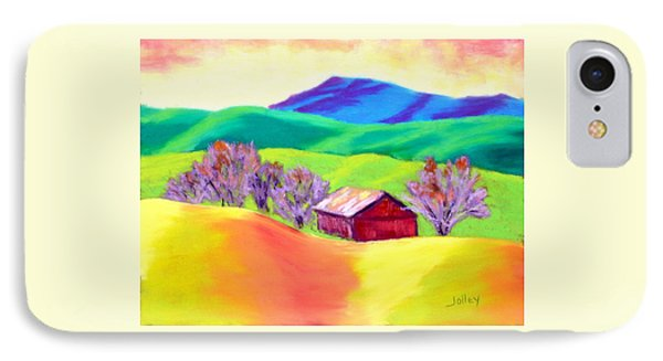 IPhone Case featuring the painting Red Hill Barn by Nancy Jolley
