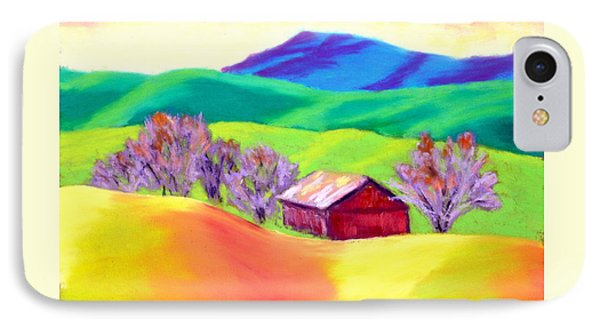 Red Hill Barn Phone Case by Nancy Jolley