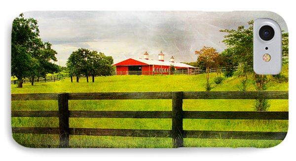 Red Horse Barn IPhone Case by Joan Bertucci