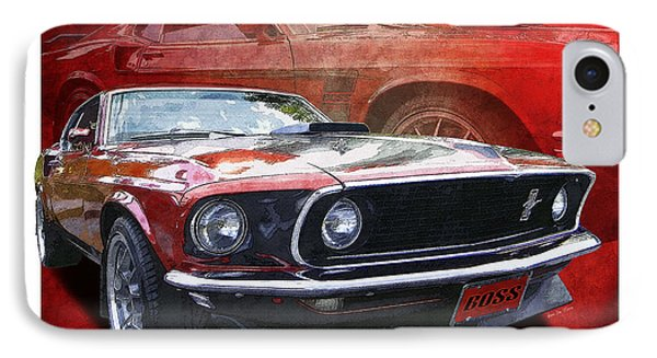 IPhone Case featuring the photograph  Boss Mustang by Kenneth De Tore