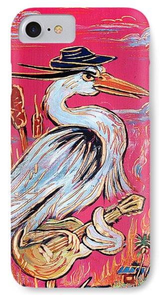 Red Hot Heron Blues Phone Case by Robert Ponzio