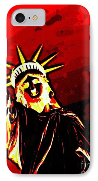 IPhone Case featuring the photograph Red Hot Liberty by Andy Heavens