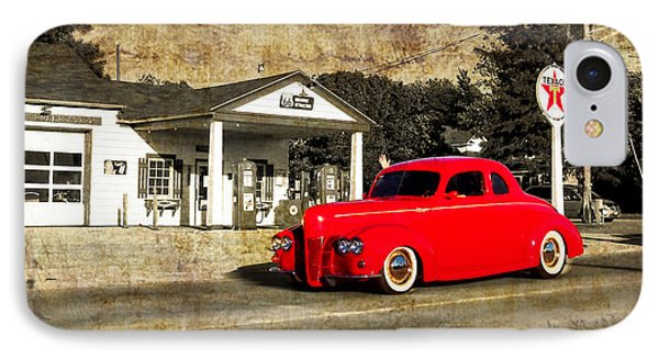 Red Hot Rod Cruising Route 66 Phone Case by Thomas Woolworth