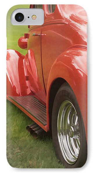 IPhone Case featuring the photograph Red Hot Rod by Wayne Meyer